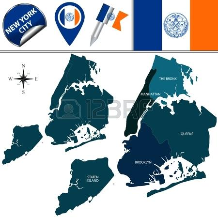 450x450 Map Of New York Boroughs And Long Island
