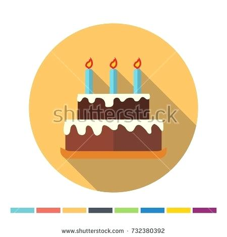 450x470 Long Cake Design With Birthday Chocolate Cake Flat Icon With Long
