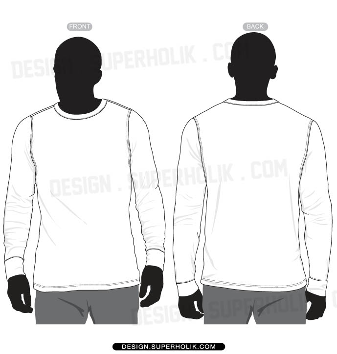long sleeve shirt vector at getdrawings com free for personal use