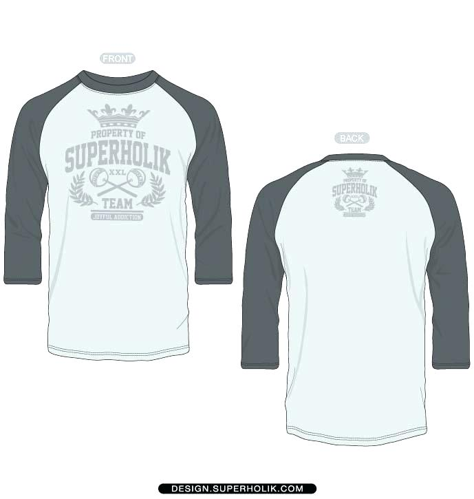 Long Sleeve T Shirt Vector Template
