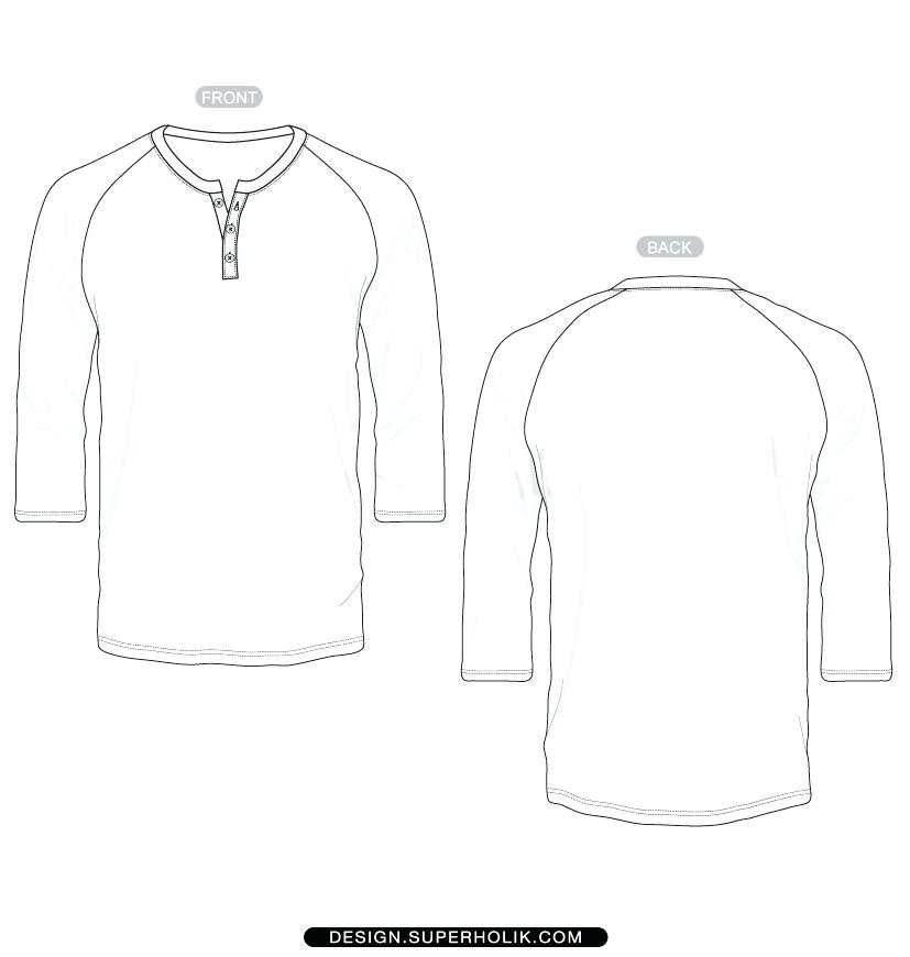 Long Sleeve T Shirt Vector Template At Getdrawings Free For