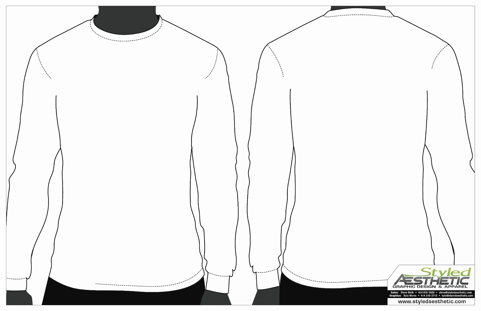 long sleeve t shirt vector template at getdrawings free. Black Bedroom Furniture Sets. Home Design Ideas