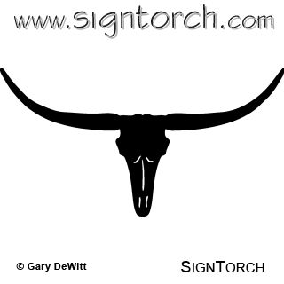 320x320 Longhorn Cattle Clipart Thin