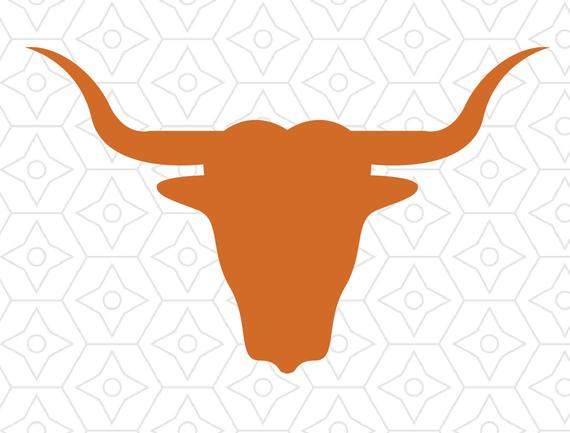 570x433 Longhorn Bull Silhouette Design Svg Dxf Vector Files For Use Etsy