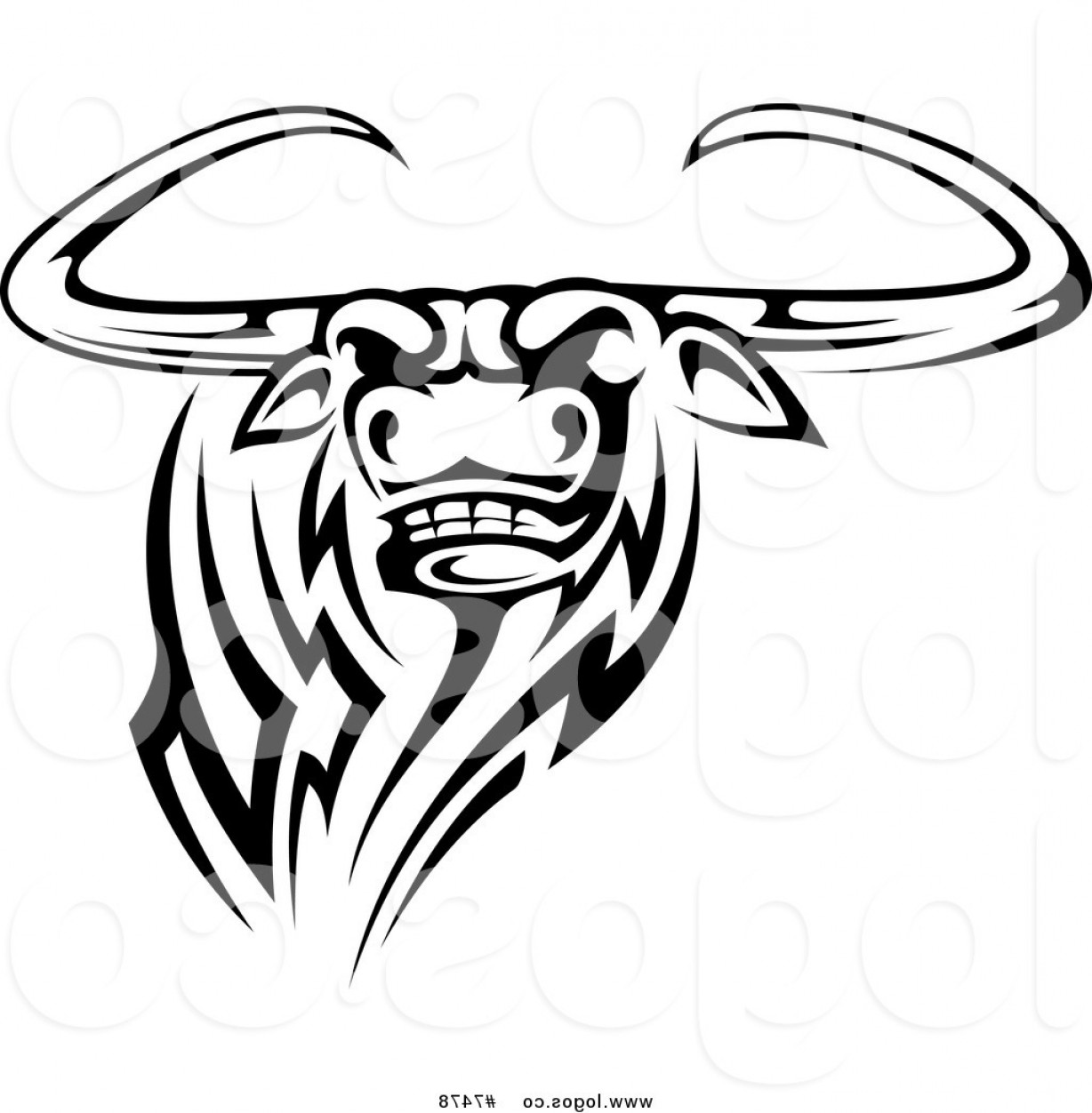 1228x1252 Royalty Free Clip Art Vector Logo Of A Black And White Tribal