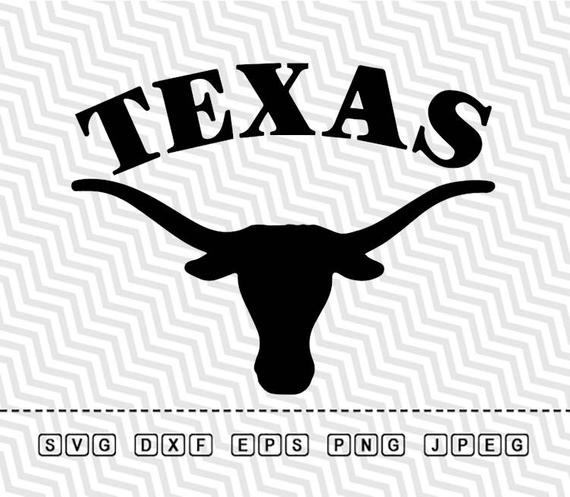 570x497 Svg Texas Longhorns Logo Vector Layered Cut File Silhouette Etsy