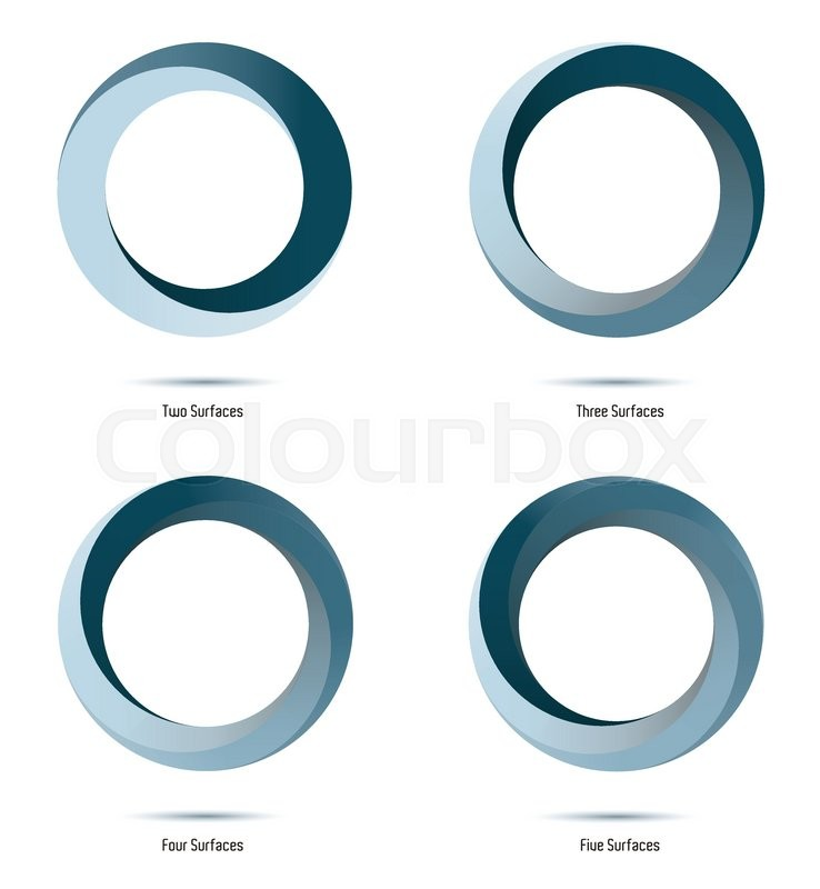 738x800 Impossible Infinite Loop Vector Design Elements With 2 To 5