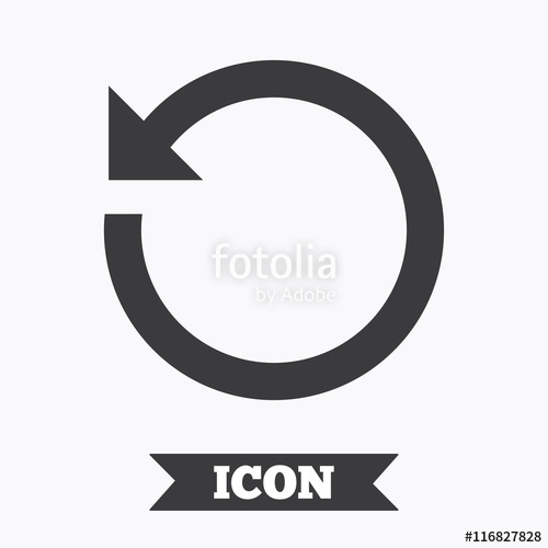 500x500 Repeat Icon. Refresh Symbol. Loop Sign. Stock Image And Royalty