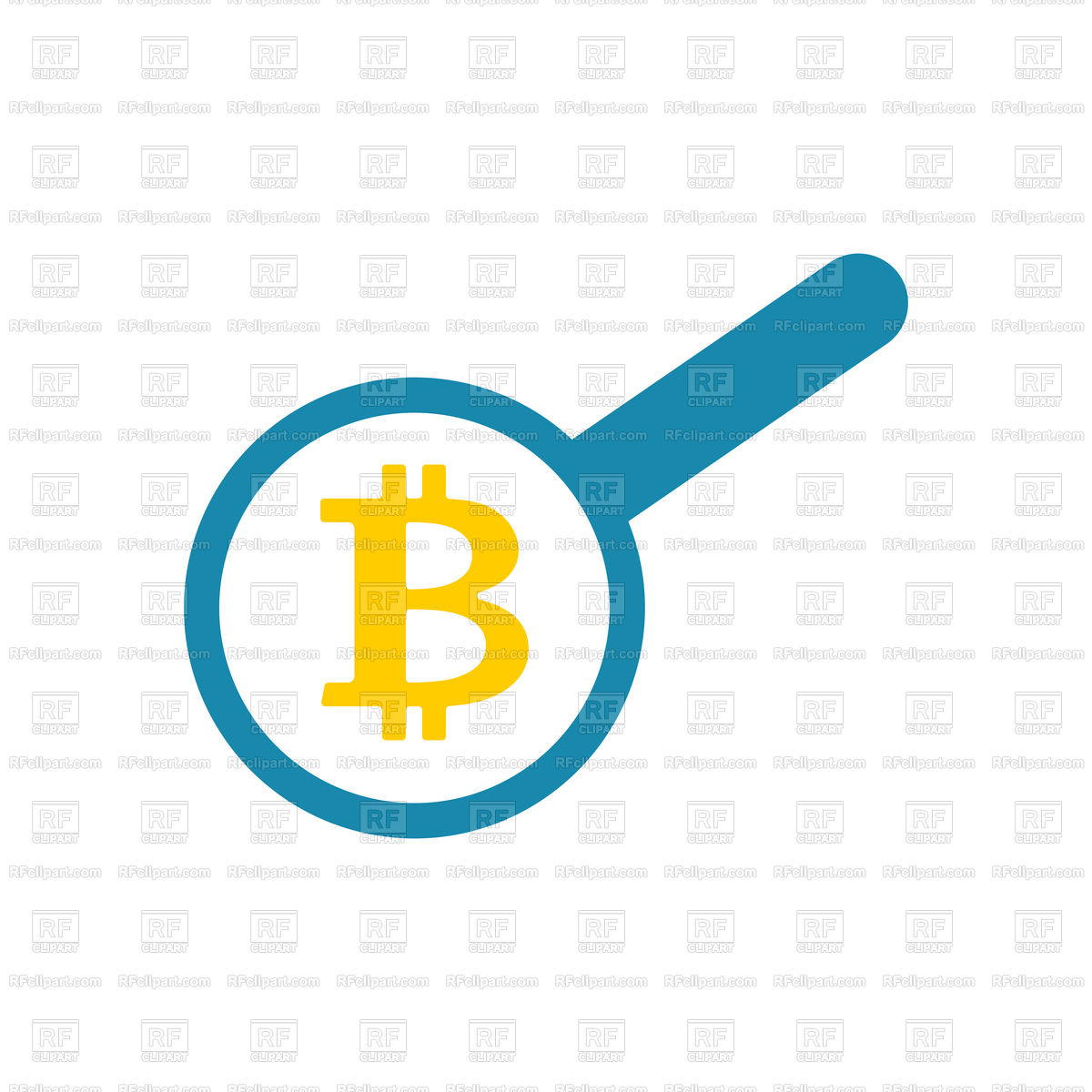 1200x1200 Search Bitcoin. Loop And Cryptocurrency. Vector Image Vector