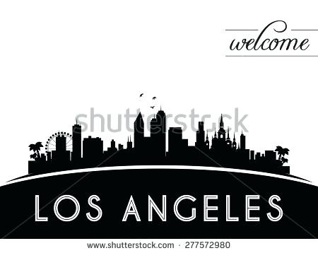 450x358 Los Angeles Skyline Silhouette Skyline B Los Angeles Skyline