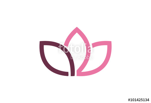 500x342 Lotus Flower Logo Vector Stock Image And Royalty Free Vector