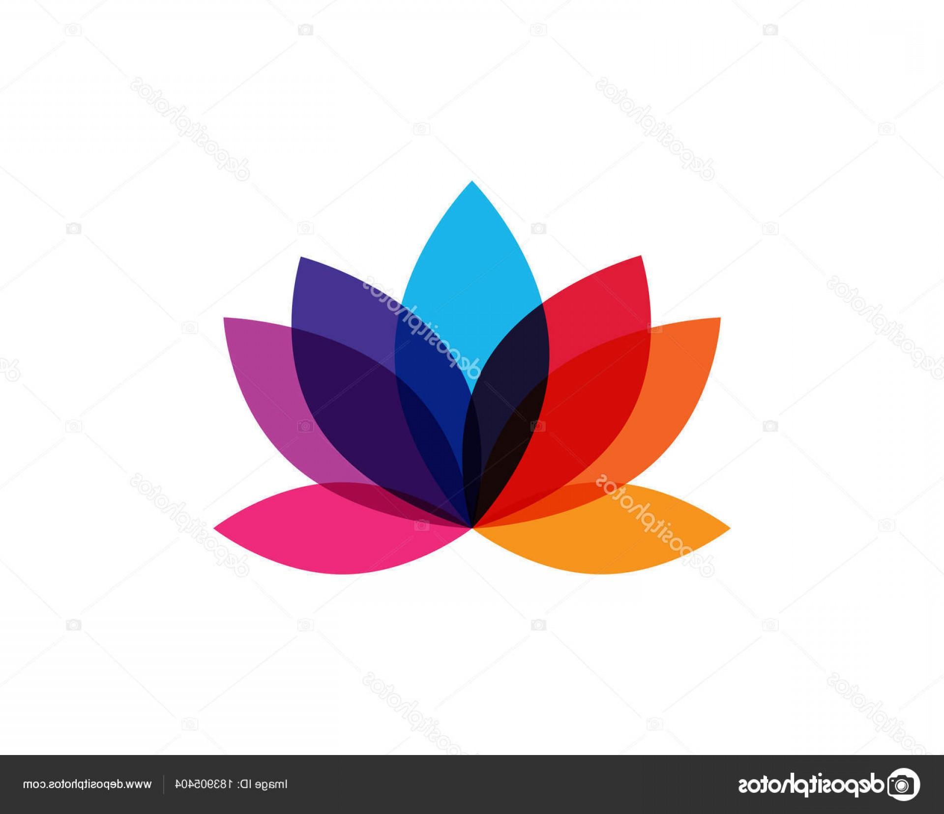1920x1656 Stock Illustration Modern Colorful Lotus Flower Logo Shopatcloth
