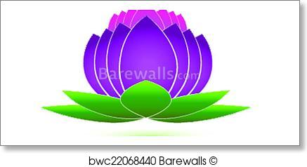 437x238 Art Print Of Lotus Flower Icon Logo Vector Barewalls Posters