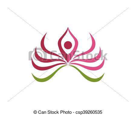 450x380 Beauty Lotus Logo. Beauty Vector Lotus Flowers Design Logo