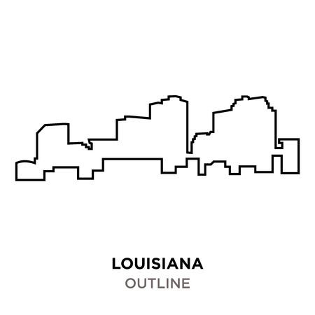 Louisiana Outline Vector At Getdrawings Com Free For Personal Use