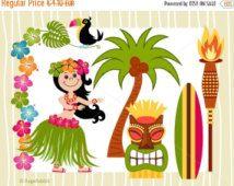 214x170 80% Off Hawaiian Luau Tiki Party Vector Illustration Clipart