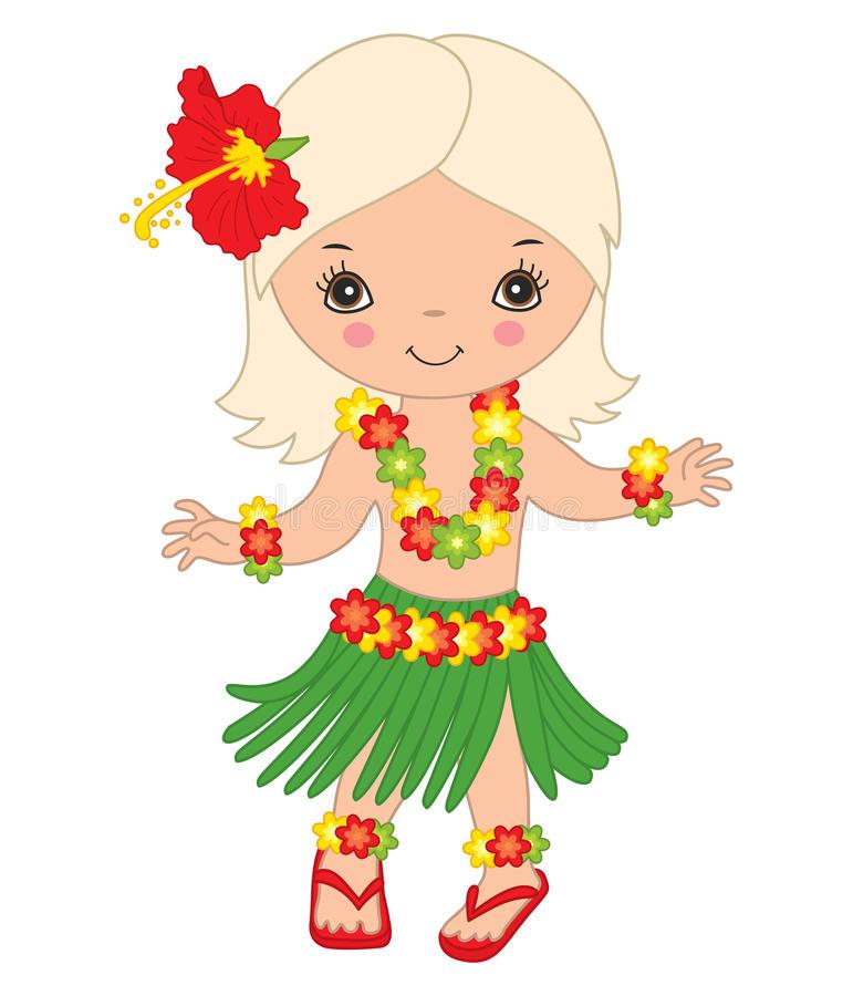 771x900 Vector Hawaiian Cute Little Girl Dancing Hula Luau Party Clipart