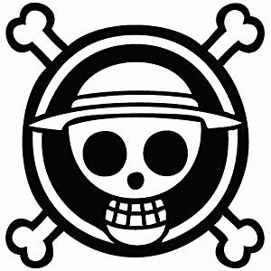 300x300 One Piece Luffy Logo Best E Piece Monkey D Luffy Vector Anime