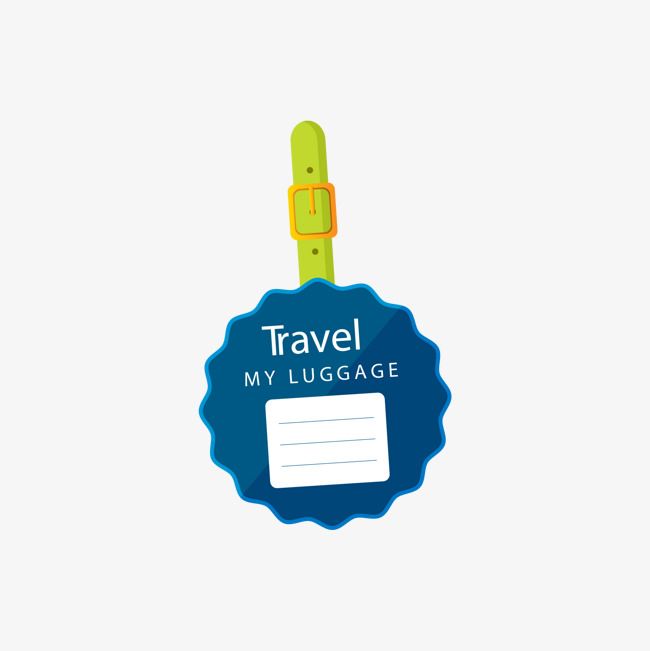650x651 Blue Baggage Tag, Blue, Luggage Tag, Vector Png And Vector For