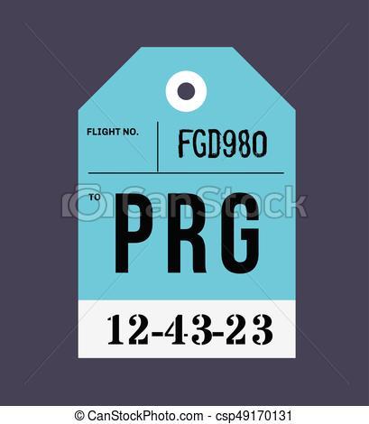 409x470 Vintage Luggage Tag. Real Looking Airport Luggage Tag. Vectors