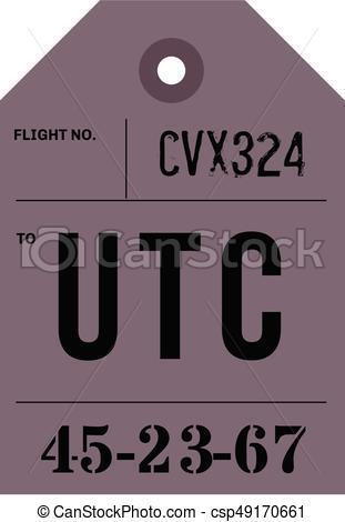 311x470 Vintage Luggage Tag. Real Looking Airport Luggage Tag.