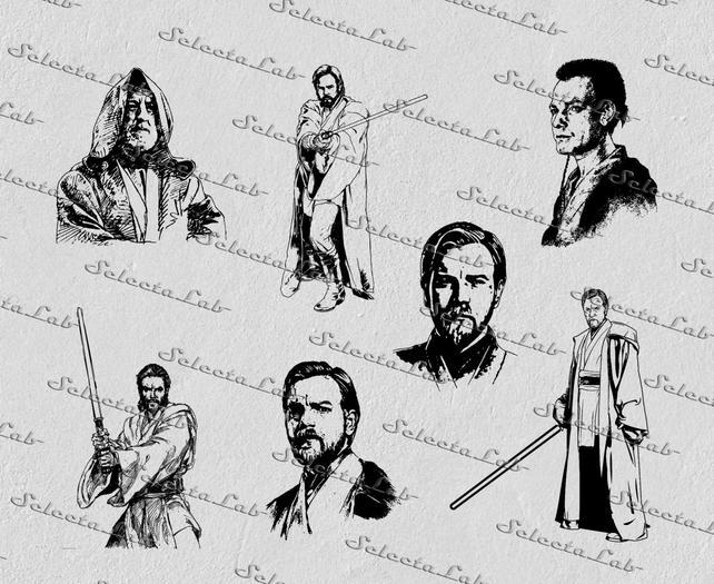 642x525 Digital Svg Png Obi Wan Kenobi Luke Skywalker Jedi Star Etsy