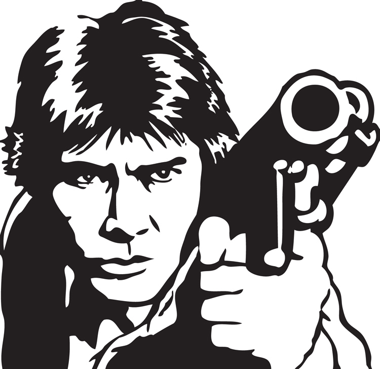 750x728 Han Solo Vector By Swaptrick