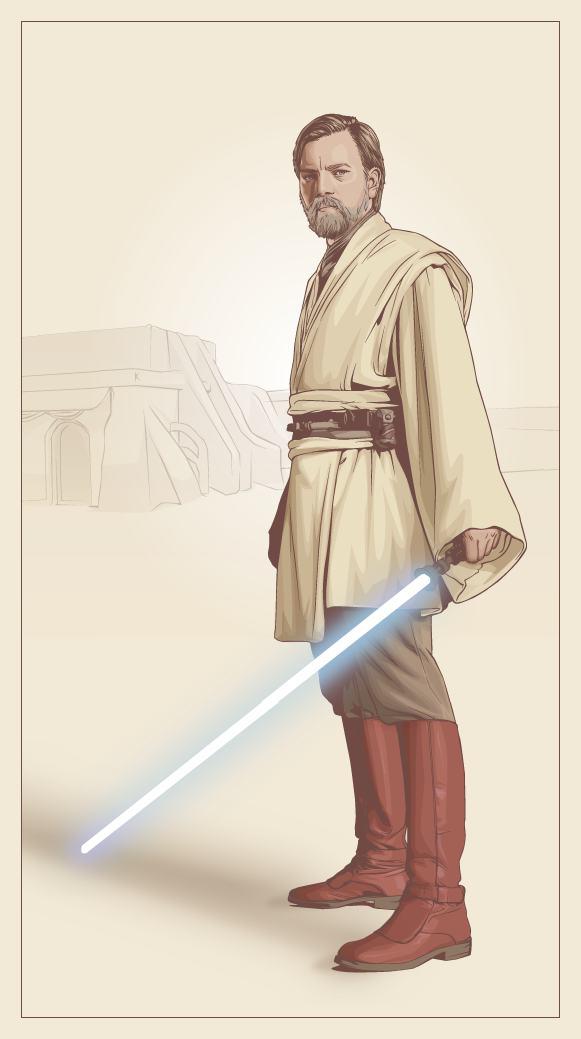 581x1039 How Star Wars Characters Look In Vectors Forevergeek