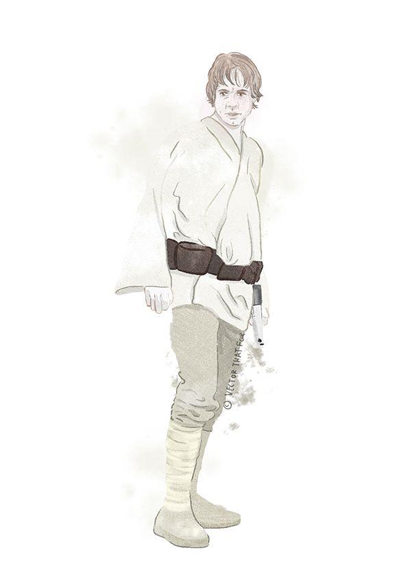 591x838 Luke Skywalker, By Vector That Fox Vector That Fox Star Wars