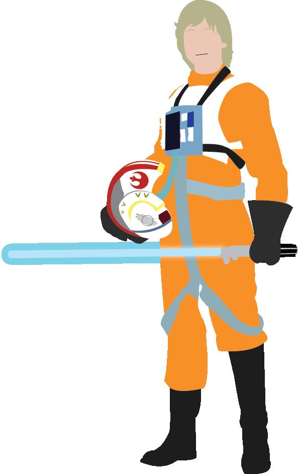 593x943 Luke Skywalker Vector By Deanwillphoenix