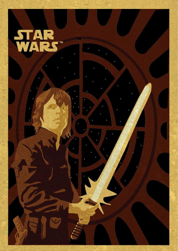 596x842 Luke Skywalker Vector Ellistration.co.uk