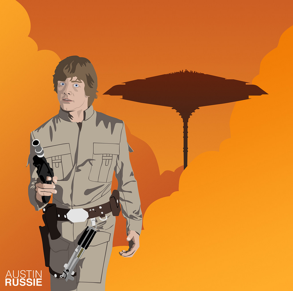 1024x1017 Bespin Luke Skywalker A Star Wars Piece That I Made Last