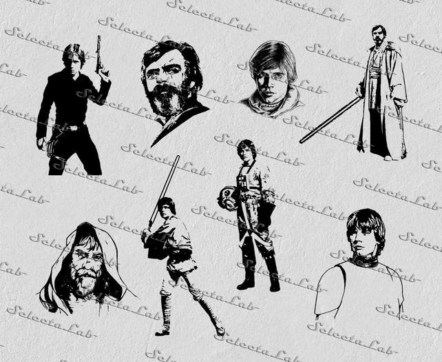 642x525 Digital Svg Png Luke Skywalker Star Wars Inspired Anakin Etsy