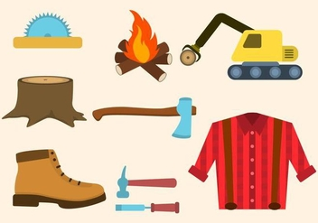 352x247 Lumberjack Line Icons Free Vector Download 381043 Cannypic