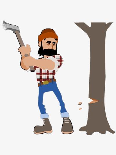400x533 Lumberjack Vector, Cartoon, Logging, Surroundings Png And Psd File