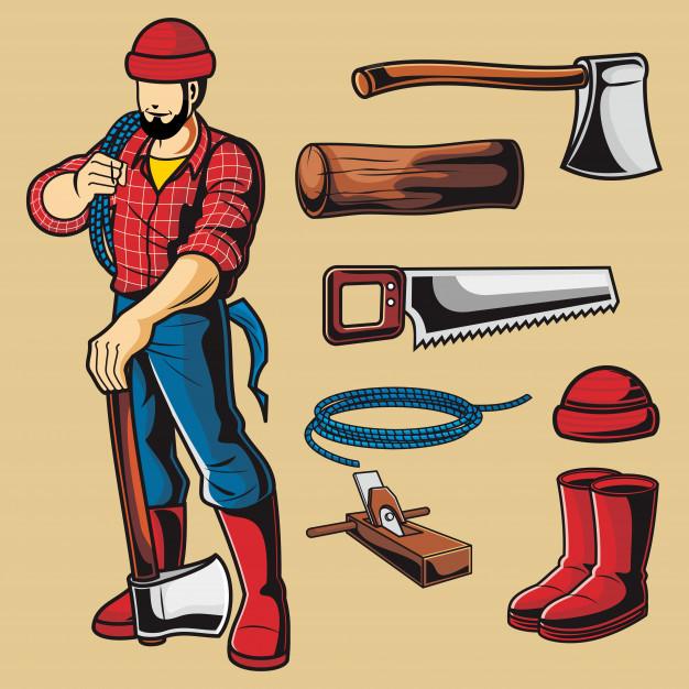 626x626 Lumberjack Vector Pack Vector Premium Download