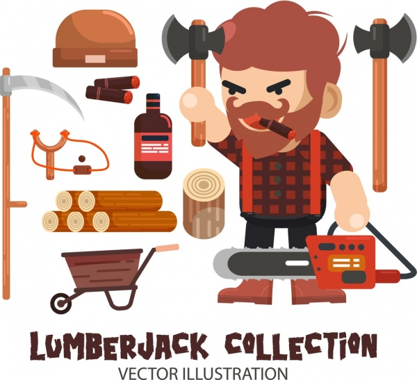 600x547 Lumberjack Vector Free Vector Download (5 Free Vector) For
