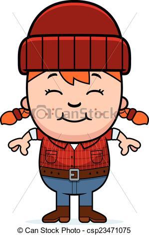 299x470 Smiling Cartoon Little Lumberjack. A Cartoon Illustration Of A