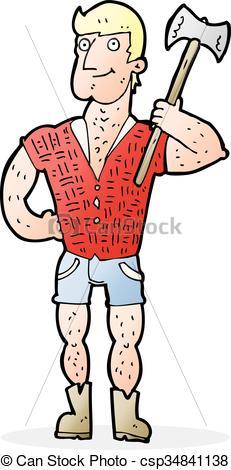 231x470 Cartoon Lumberjack.