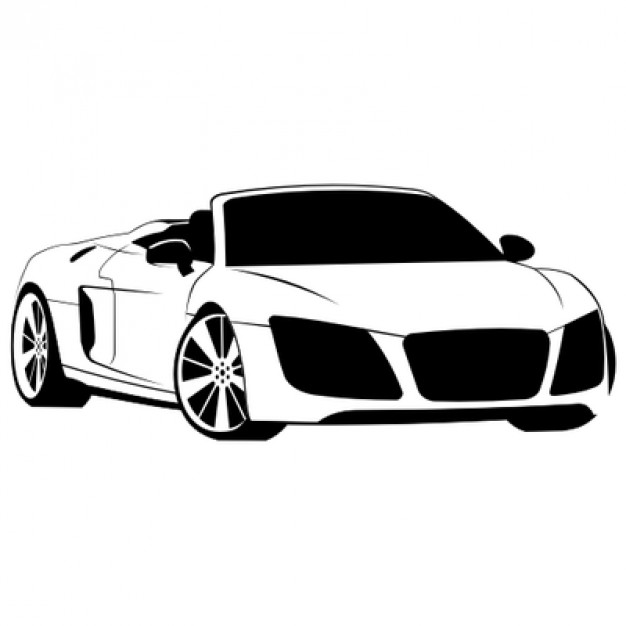 626x626 Luxury Audi R8 Spyder Illustration Vector Free Download