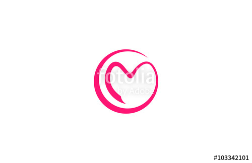 500x324 Circle Love Letter M Logo Stock Image And Royalty Free Vector