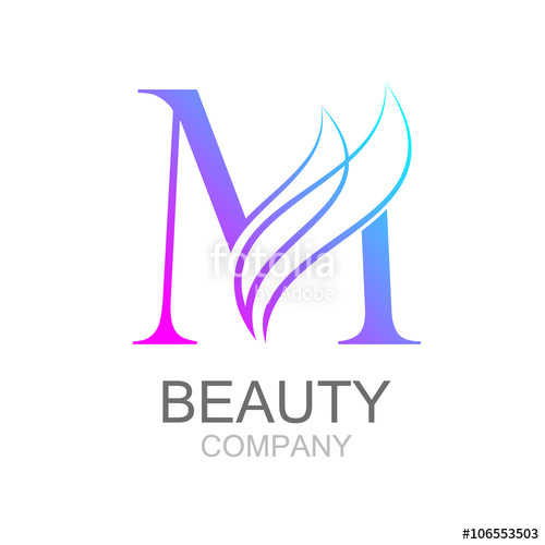 500x500 Abstract Letter M Logo Design Template With Beauty Industry And