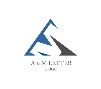 389x346 A M Letter Alphabet Vector Logo Inspiration Download Alphabet