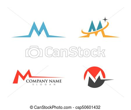 450x380 M Letter Logo Template Vector Illustration.
