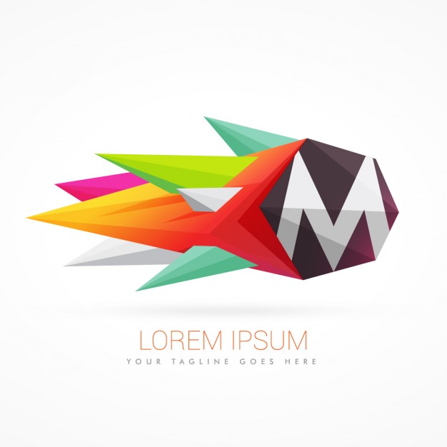 626x626 Colorful Abstract Logo With Letter M Vector Free Download