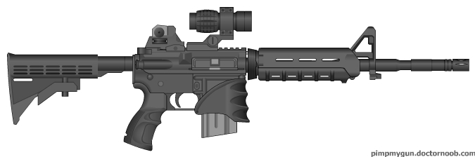 675x224 Custom M4 Carbine By Tgu