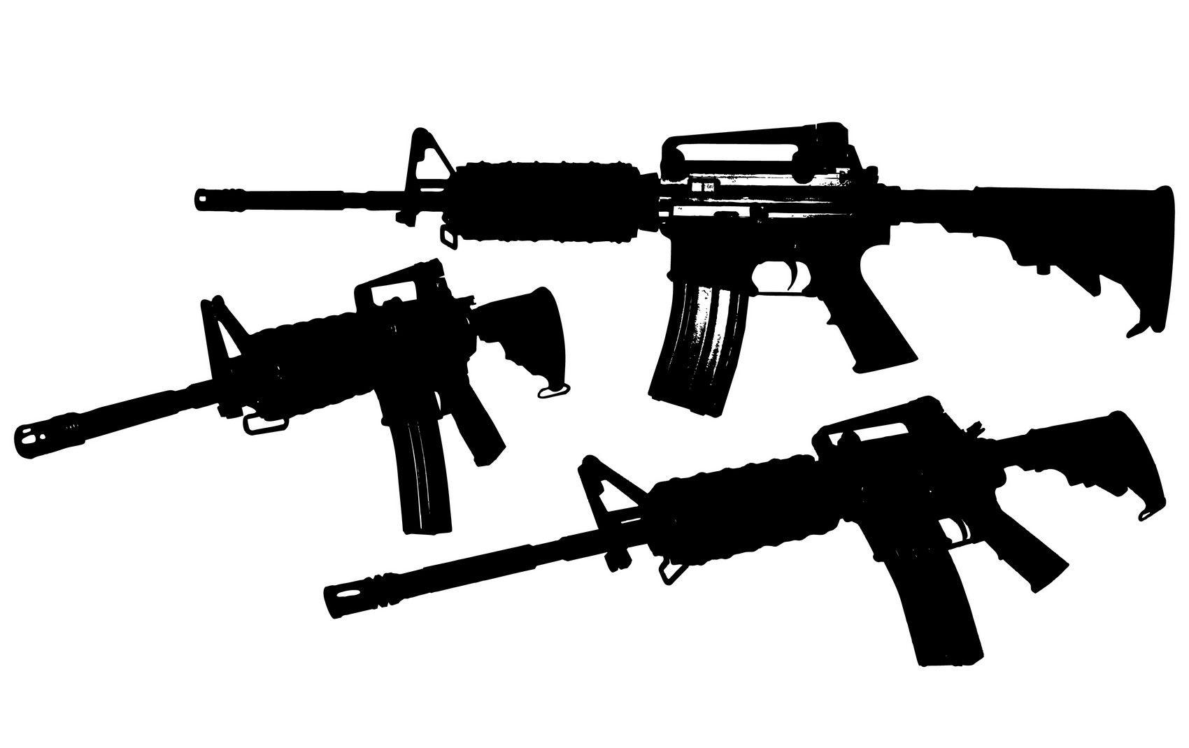 1700x1070 M4 Rifle Vector [Eps File]