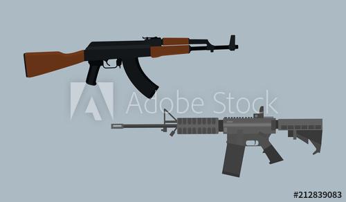 500x292 Compare Usa Vs Russian Ak Vs M4 Asssault Riffle Vector