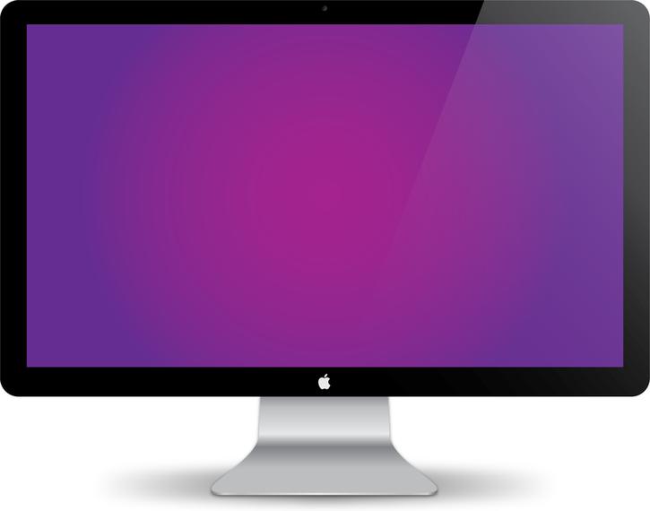 725x570 Mac Display Vector