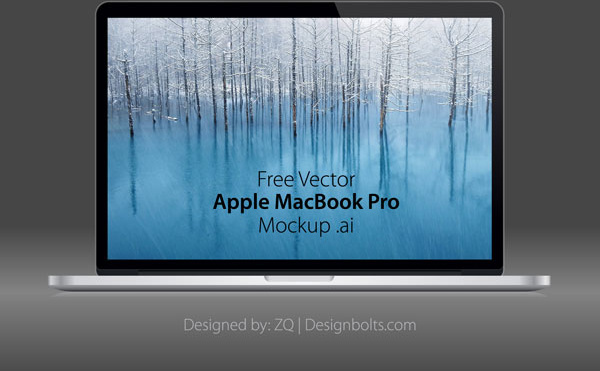600x371 Free Vector Apple Macbook Pro Mockup Free Vector In Encapsulated
